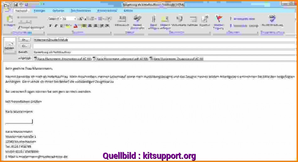 Prime 19+ Anschreiben Bewerbung Email Muster, Kitsupport
