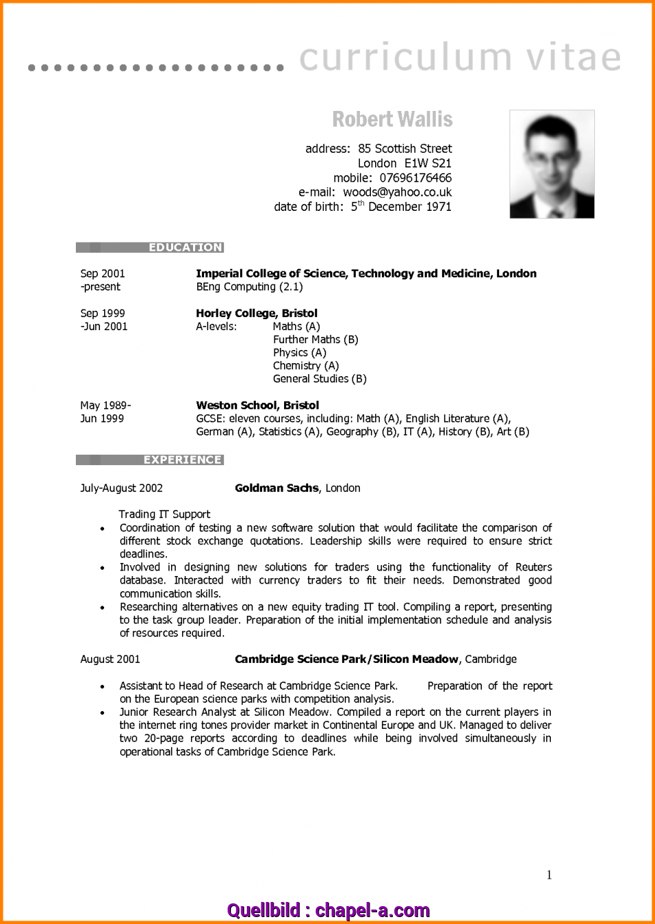Primär ... Blank Cv Templates, Format, Download With Resume To Print Plus Rare Template British Style