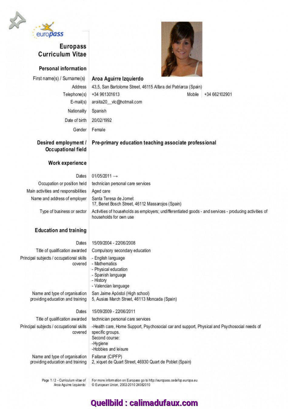 Vorhanden Full Size Of Model Cv Europass Completat Profesor With English Plus Romana Word Together Shqip As
