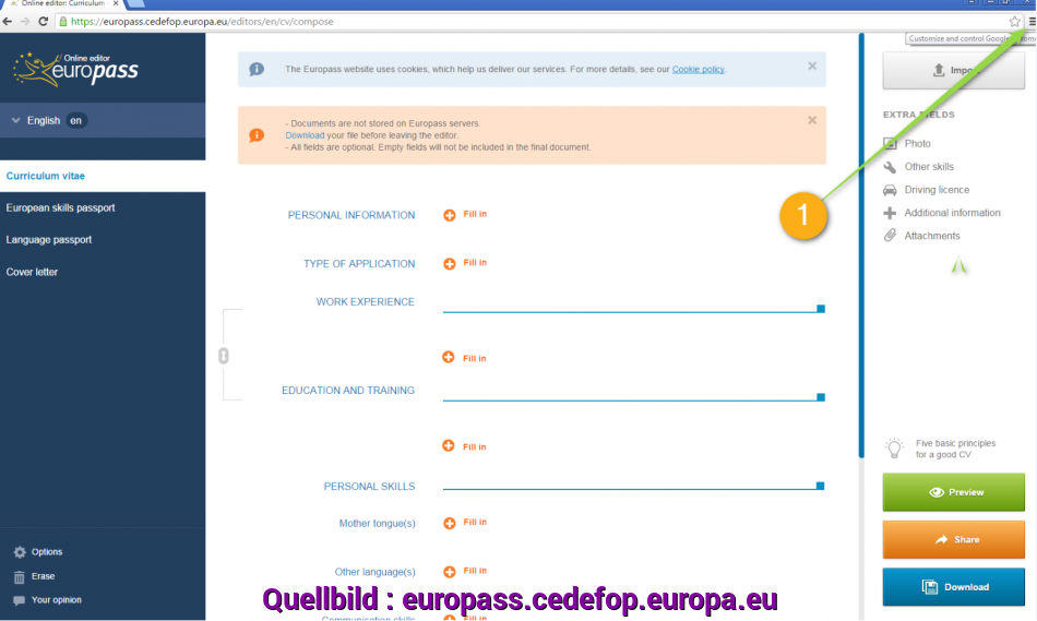 Frisch I Cannot Import/Export My CV From My Cloud Storage., Europass