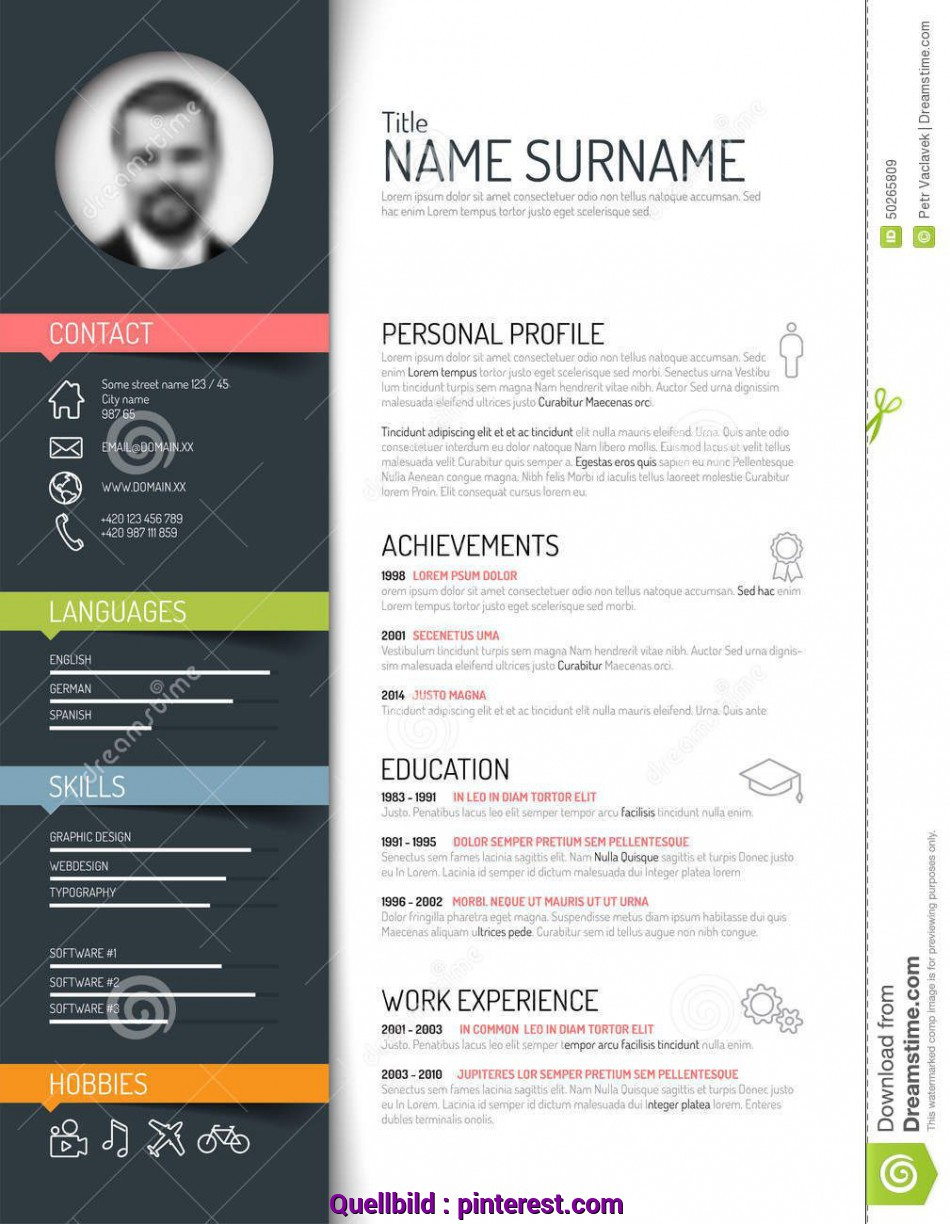 Einfach Cv / Resume Template, Download From Over 42 Million High Quality Stock Photos, Images, Vectors. Sign Up, FREE Today. Image: 50265809