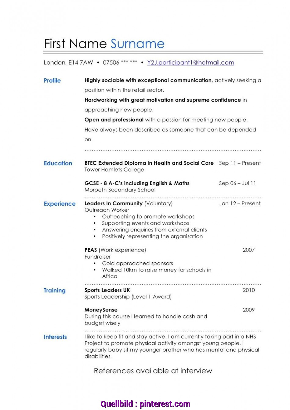 Trending Cv Template Young Person , #CvTemplate #Person #Template #Young