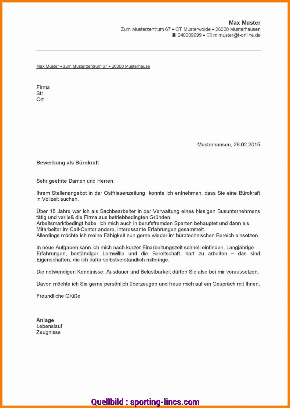 Neueste 16+ Initiativbewerbung Hausmeister Muster, Sporting-Lincs