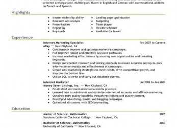 Gut Best Online Marketer, Social Media Resume Example, LiveCareer