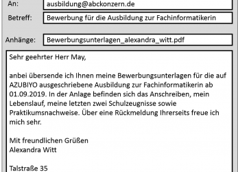 Detail ... 64 Sample Bewerbung, Email Muster Kostenlos Interview