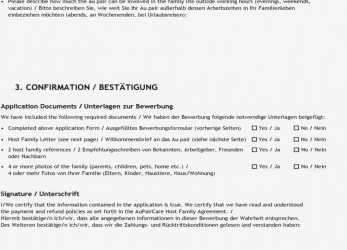 Liebling Bewerbung Gastfamilie Host Family Application, PDF, Au Pair