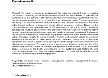 Briliant Managing Engagement Behaviors In A Network Of Customers, Stakeholders: Evidence From, Nursing Home Sector, Request PDF