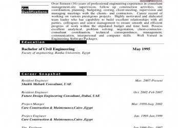 Gut Hamdy Hussien Cv Resident Engineer
