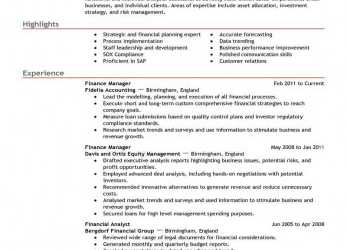 Großartig Best Finance Manager Resume Example, LiveCareer