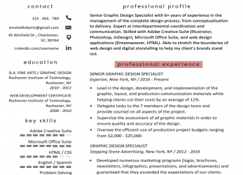 Positiv Graphic Design Resume Sample & Writing Guide, RG