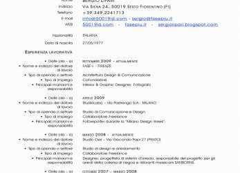 Neu Divertente Curriculum Vitae In Italiano Cv Europass Italiano