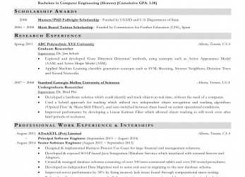 Erweitert Please Critique My CV, Graduate Admission Application