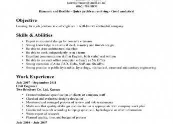 Wertvoll Cv Sample, Civil Engineering Student, Civil Engineer CV