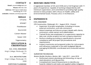 Prämie Civil Engineering Resume Example & Writing Guide, Resume Genius