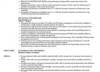 Trending Download Financial Controller Resume Sample As Image File
