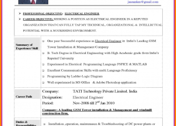 Erweitert Cv Template, Electrical Engineer.Elegant-Best-Solutions-Electrical- Engineer-Cv-Sample-Electrical-Image-Gcn-Of-Electrician-Cv-Example-Fkp.Png