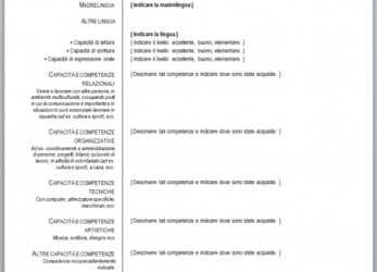 Perfekt Curriculum Vitae Europeo, Compilare), Download