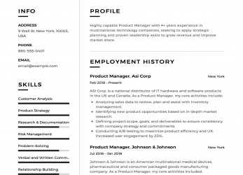 Komplett Product Manager Resume Sample, Template, Example,, Formal, Design