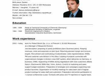 Beste German Cv Template, Cv Template English Europass Best German Cv Template, Free