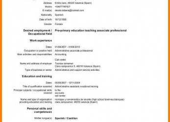 Komplett European Curriculum Vitae.Europass-Cv-English-Template -Format-Doc-Version.Jpg