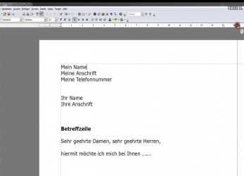 Briliant Einstieg In Open Office Writer (Bewerbung)