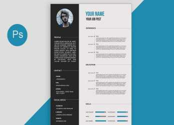 Prime CV/Resume Template Design Tutorial With Photoshop Free PSD+DOCS+PDF