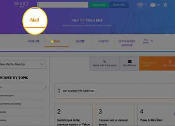 Gut Mail, In Help, Yahoo Mail Website
