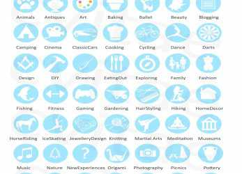 Wertvoll Interest & Activity Icons, Infographic CV Resume By CVitae Design. Icons, For Reuse © CVitaeDesign