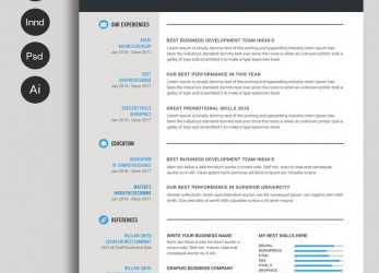 Einfach Free Ms.Word Resume, CV Template, Collateral Design, Free