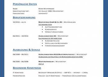 Experte 90 Examples Lebenslauf Vorlage Download Word, Any Positions