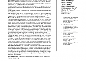 Kostbar (PDF), FacharztDuell: Innovative Career Counselling In Medicine