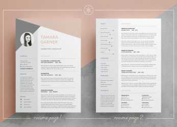 Frisch Resume/CV, Cover Letter, Easy To Edit Templates, 3 Page Resume, Professional Design, Instant Download, MS Word, Photoshop, InDesign, Tamara By Keke